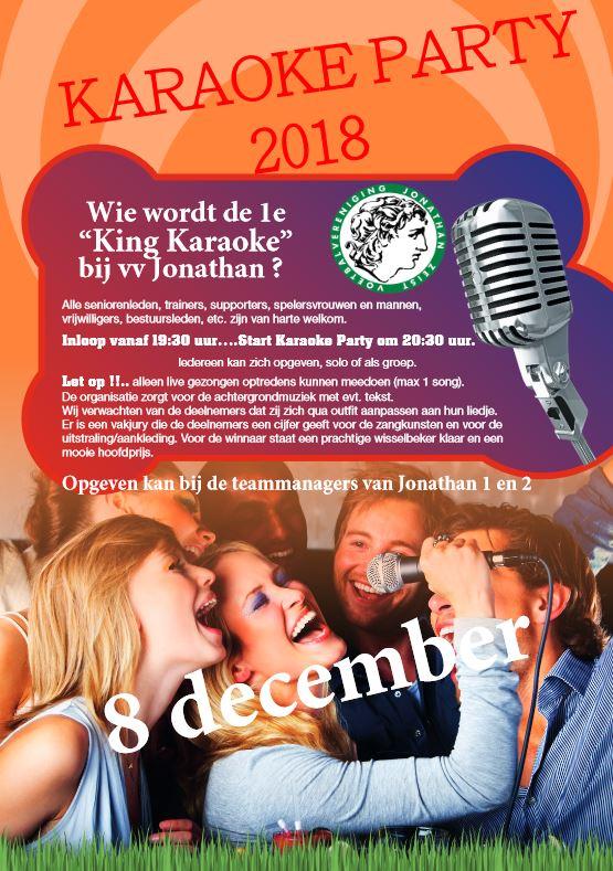 Karaoke Party bij Jonathan op 8 december
