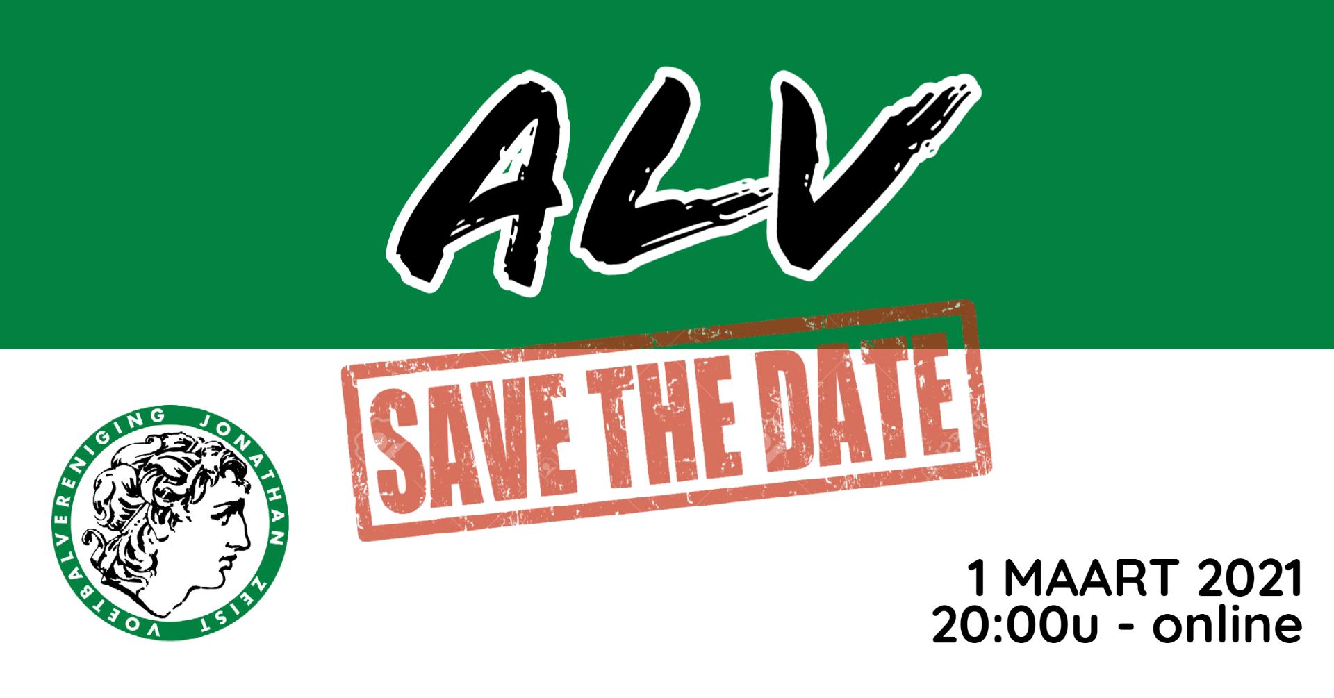 Save the date! Maandag 1 maart ALV!