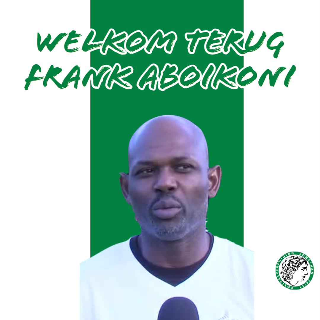 Frank Aboikoni trainer Jonathan O23