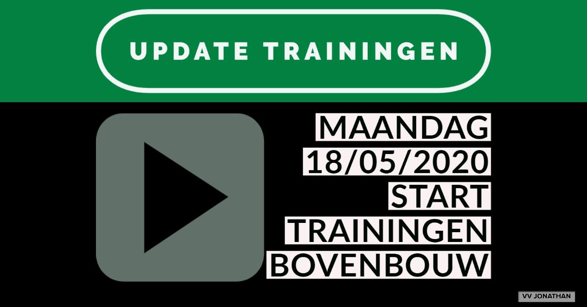 UPDATE: Start trainingen bovenbouw